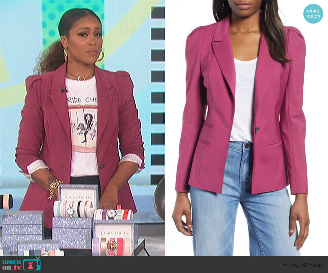 Puff Shoulder Blazer by 1.State worn by Eve  on The Talk