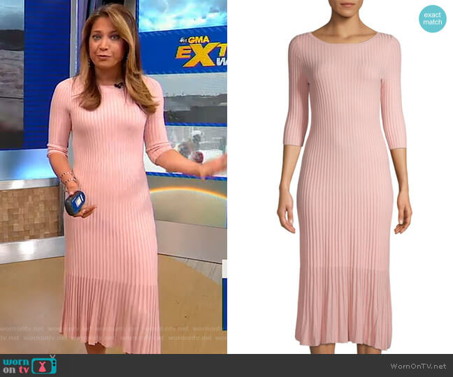 Textured Sheath Dress by 525 America worn by Ginger Zee  on Good Morning America
