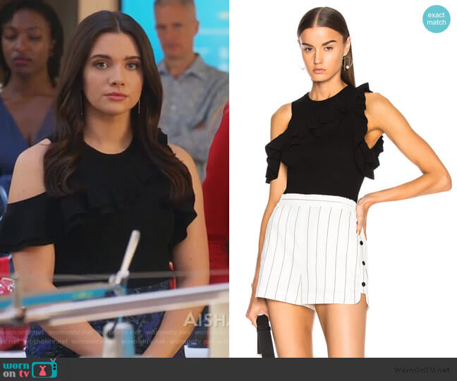 Palmer Top by A.L.C worn by Jane Sloan (Katie Stevens) on The Bold Type
