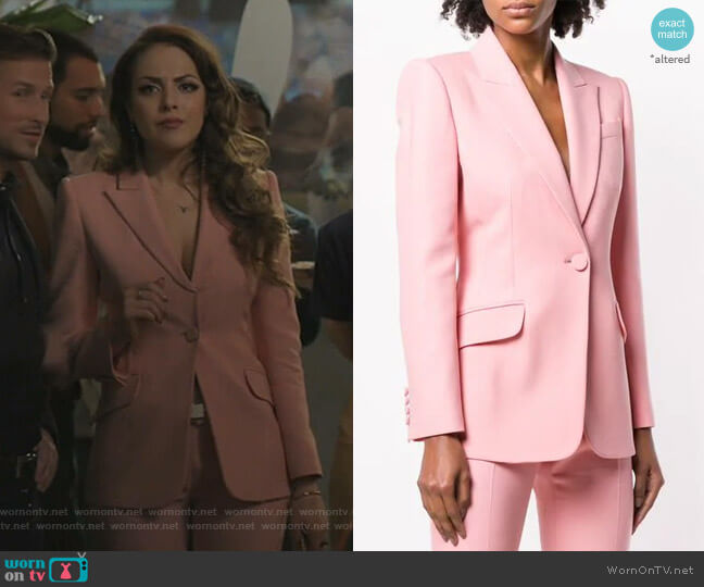Structured Blazer by Alexander McQueen worn by Fallon Carrington (Elizabeth Gillies) on Dynasty