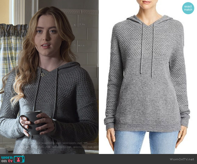 Honeycomb Hooded Sweater by Aqua worn by Allie Pressman (Kathryn Newton) on The Society