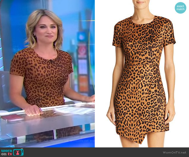 Leopard Print Faux Suede Dress by Aqua worn by Amy Robach  on Good Morning America