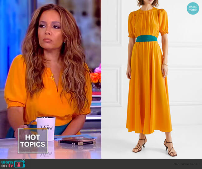 Brooke Midi dress by Aross Girl X Soler worn by Sunny Hostin  on The View