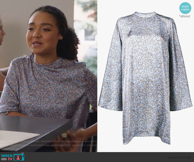 Printed Cape Dress by Acne Studios worn by Kat Edison (Aisha Dee) on The Bold Type