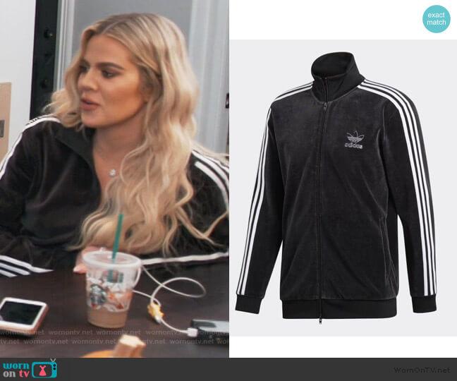 Velour Beckenbauer Track Jacket by Adidas worn by Khloe Kardashian  on Keeping Up with the Kardashians