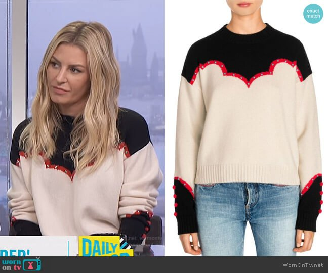 Western Laplonia Cashmere Sweater by Alanui worn by Morgan Stewart  on E! News