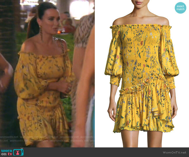Gemina Dress by Alexis worn by Kyle Richards  on The Real Housewives of Beverly Hills