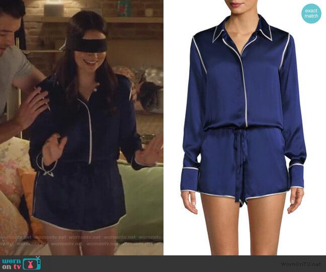 Lareyne Twist Silk Pajama Romper by Alexis worn by Jane Sloan (Katie Stevens) on The Bold Type
