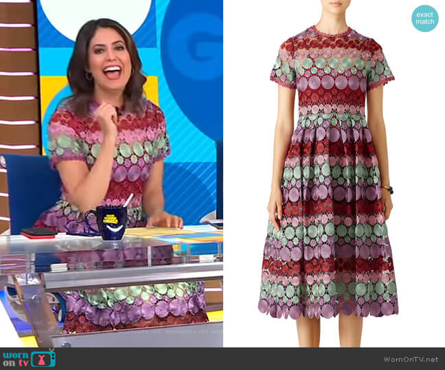 Multicolor Daniella Dress by Alexis worn by Cecilia Vega  on Good Morning America
