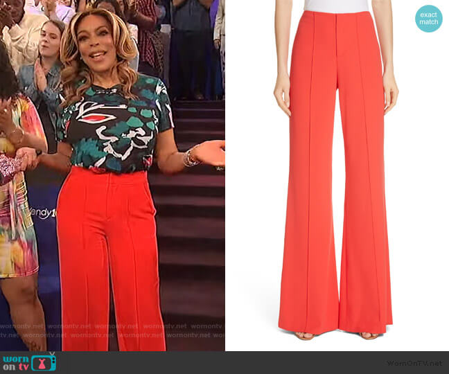 Dylan Wide Leg Pants by Alice + Olivia worn by Wendy Williams  on The Wendy Williams Show