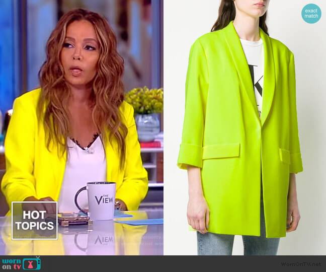 Oversized Blazer by Alice + Olivia worn by Sunny Hostin  on The View