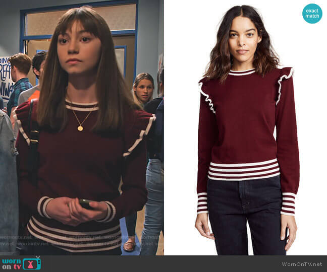 Allegiance Knit by The Fifth Label worn by Molly (Lauren Lindsey Donzis) on No Good Nick