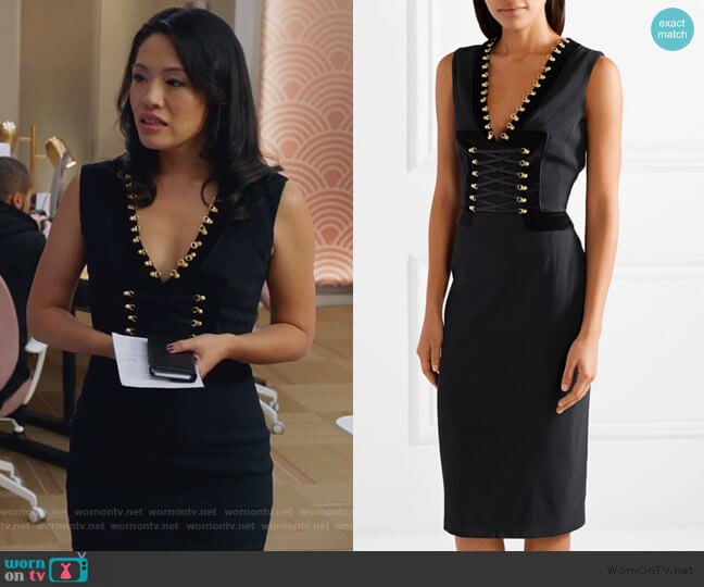 Adriana Lace-up Dress by Altuzarra worn by Emily Chang on The Bold Type