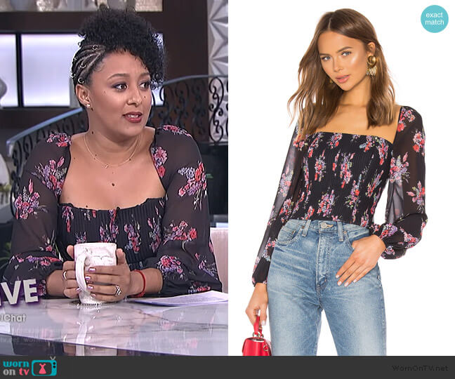 Beverly Top by Amur worn by Tamera Mowry  on The Real