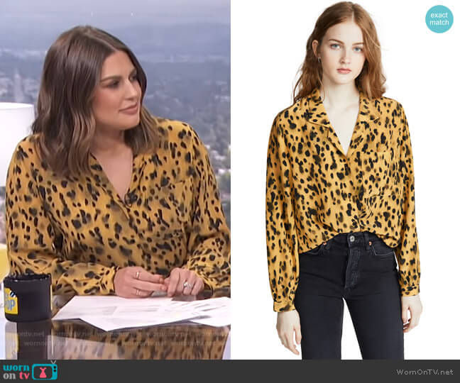 Lilah Shirt by Anine Bing worn by Carissa Loethen Culiner  on E! News