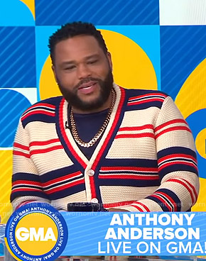 Anthony Anderson's striped cardigan on Good Morning America