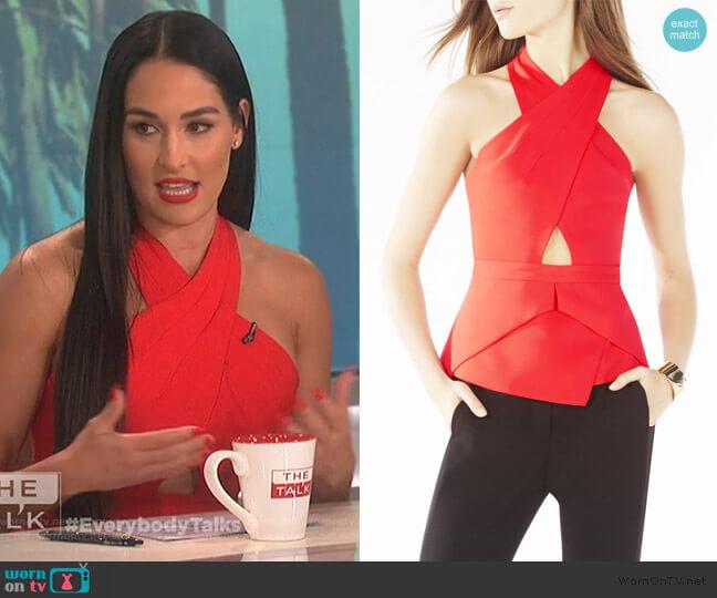 Remmie Top by BCBGMAXAZRIA worn by Nikki Bella on The Talk