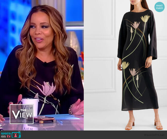 Floral-print silk maxi dress by Bernadette worn by Sunny Hostin  on The View