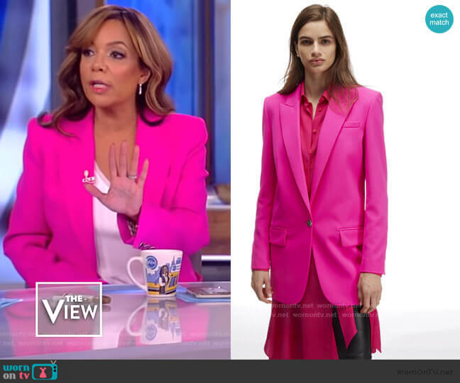Tuxedo Jacket with Lapel Collar by Barbara Bui worn by Sunny Hostin  on The View