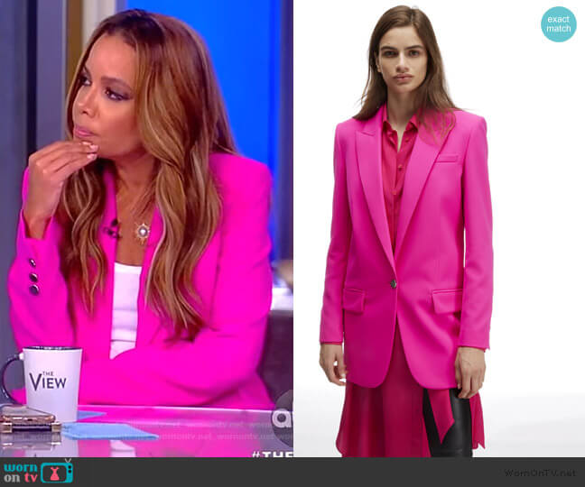 Tuxedo Jacket with Lapel Collar worn by Sunny Hostin  on The View