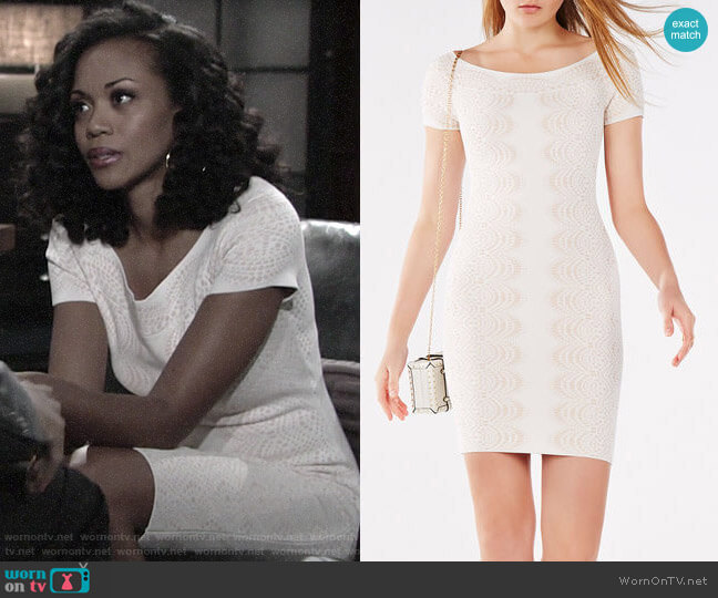 Bcbgmaxazria kisha dress worn by Hilary Curtis (Mishael Morgan) on The Young & the Restless