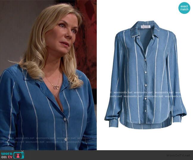Bella Dahl Painted Stripe Shirt worn by Brooke Logan (Katherine Kelly Lang) on The Bold & the Beautiful