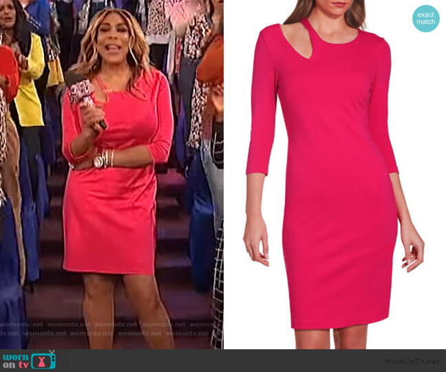 Ponte Cutout Dress by Boston Proper worn by Wendy Williams  on The Wendy Williams Show