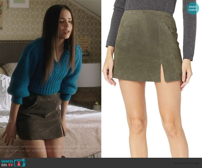 Herb Skirt by Blank NYC worn by Ava Jalali (Sofia Carson) on PLL The Perfectionists