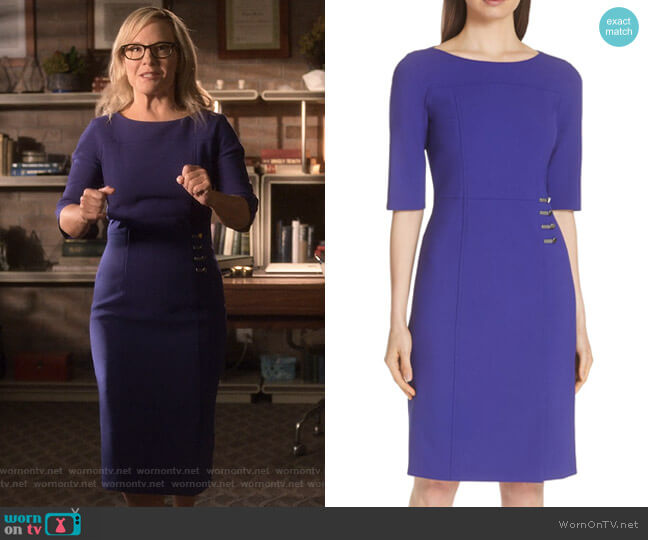 Disoma Dress by Boss worn by Linda Martin (Rachael Harris) on Lucifer