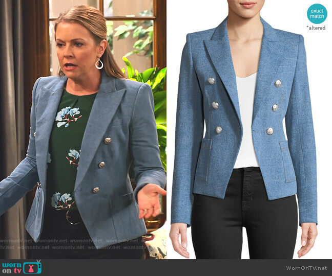 Caden Double-Breasted Dickey Jacket by Veronica Beard worn by Liz (Melissa Joan Hart) on No Good Nick