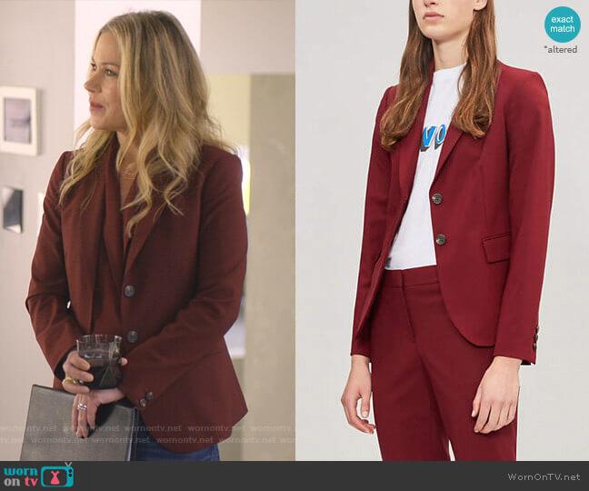 Carissa Blazer by Theory worn by Jen Harding (Christina Applegate) on Dead to Me