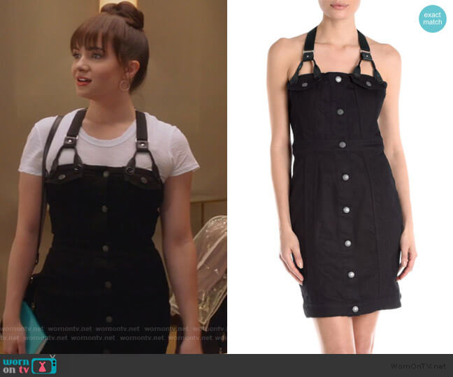 Denim Harness Mini Dress by Cedric Charlier worn by Jane Sloan (Katie Stevens) on The Bold Type