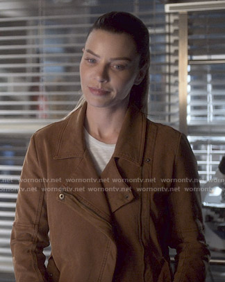 Chloe's brown jacket on Lucifer