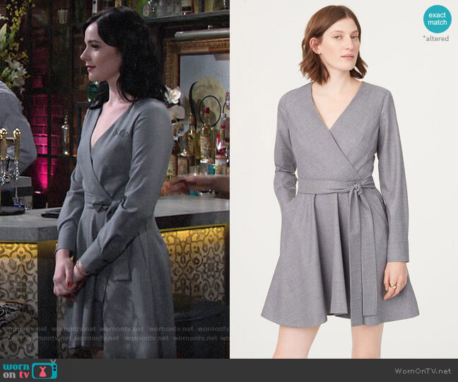Club Monaco Donisha Dress worn by Tessa Porter (Cait Fairbanks) on The Young & the Restless