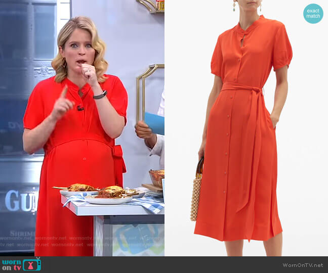 Addilyn Dress by Diane von Furstenberg worn by Sara Haines  on Good Morning America
