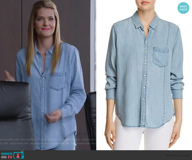 Nassau & Manhattan Chambray Shirt by DL1961 worn by Sutton (Meghann Fahy) on The Bold Type