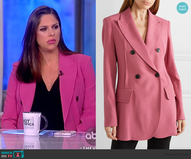 Oversized double-breasted blazer by Derek Lam worn by Abby Huntsman  on The View