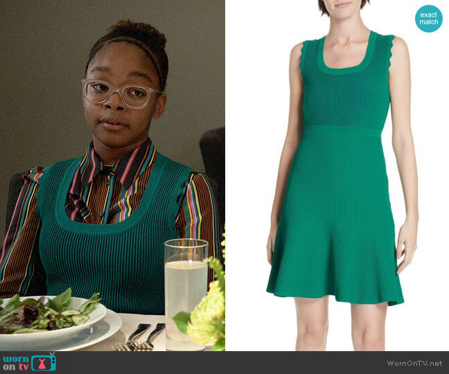 Diane von Furstenberg Adi Dress worn by Diane Johnson (Marsai Martin) on Blackish