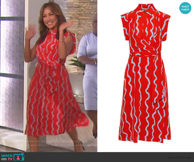 Avery Dress by Diane von Furstenberg worn by Carrie Inaba  on The Talk