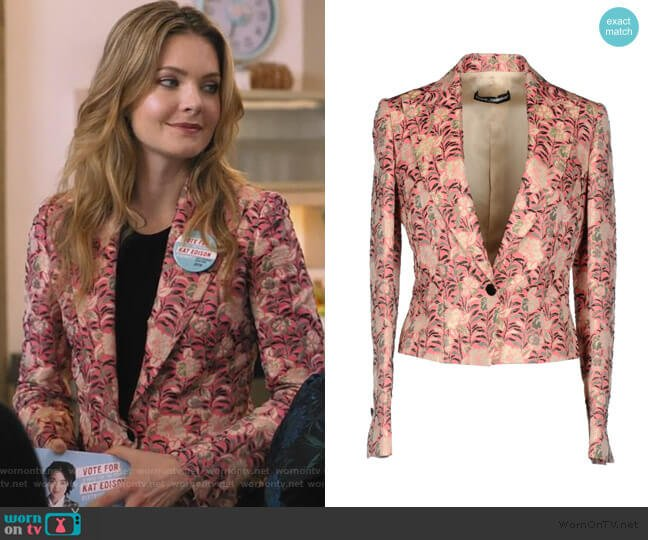 Jacquard Blazer by Dolce & Gabbana worn by Sutton (Meghann Fahy) on The Bold Type