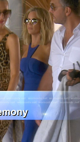 Teddi's blue gown on The Real Housewives of Beverly Hills