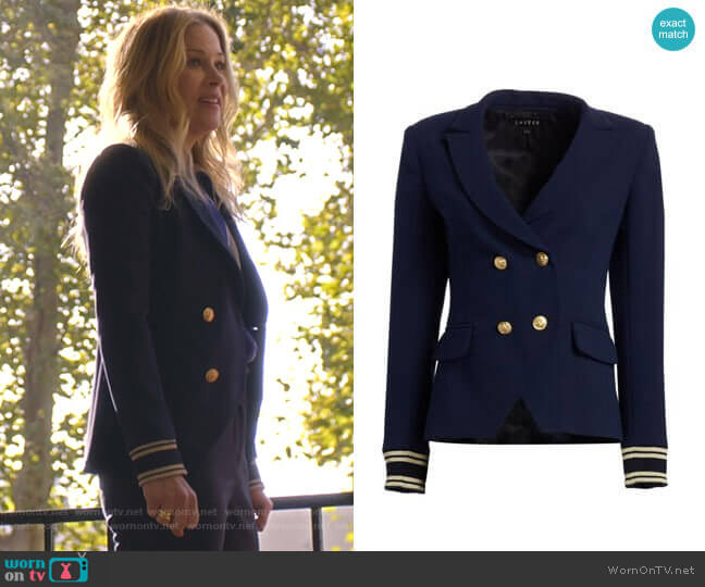 Double Breasted Blazer by Scripted worn by Jen Harding (Christina Applegate) on Dead to Me