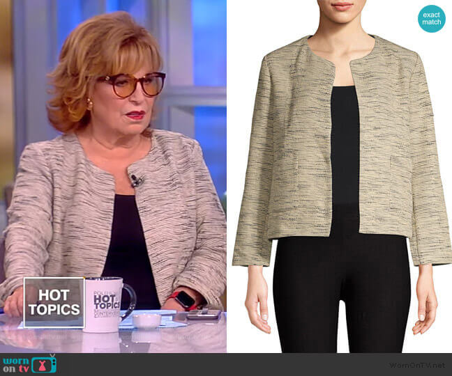 Cotton Roundneck Cropped Jacket by Eileen Fisher worn by Joy Behar  on The View
