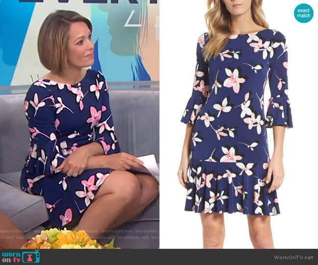 Floral Bell Sleeve Dress by Eliza J worn by Dylan Dreyer  on Today