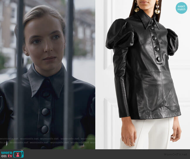 Breuer leather shirt by Ellery worn by Villanelle (Jodie Comer) on Killing Eve