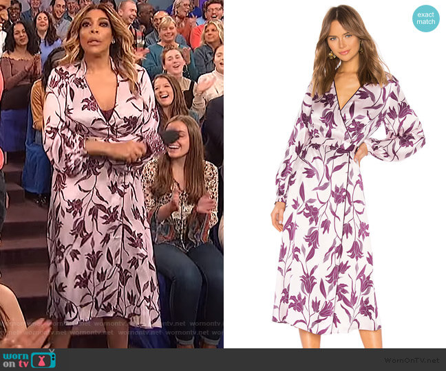 Andrese Dress by Equipment worn by Wendy Williams  on The Wendy Williams Show