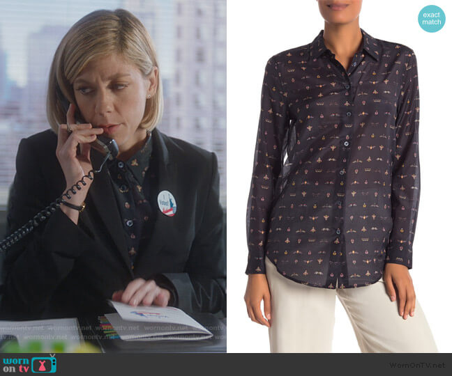 Essential Button Up Blouse by Equipment worn by Kate Littlejohn (Susannah Flood) on For the People
