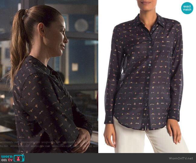 Essential Button Up Blouse by Equipment worn by Chloe Decker (Lauren German) on Lucifer