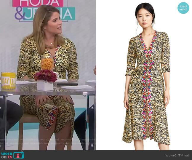 Eve Dress by Saloni worn by Jenna Bush Hager  on Today