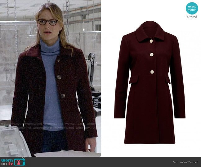 Ever New Ellie Dolly Coat worn by Kara Danvers (Melissa Benoist) on Supergirl